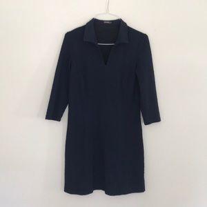 J. McLaughlin Navy blue mid sleeve dress